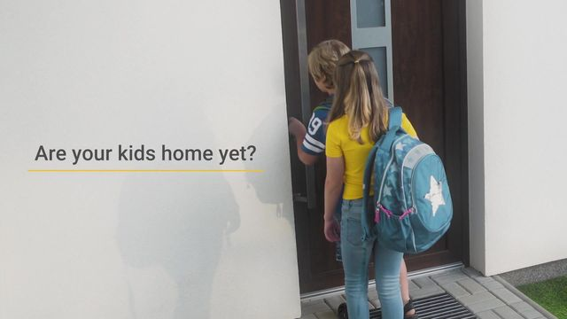 kids and alarm